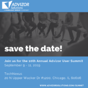 Advizor Annual User Group Save the Date